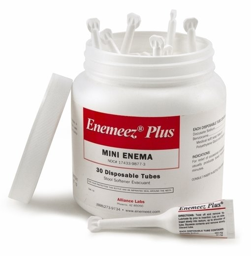 Enemeez Plus, 30 Disposable Tubes in Plastic Container with Lid Open Image